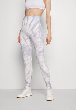 DKNY - HIGH WAISTED SEAMLESS TIE DYE - Tights - pale blue