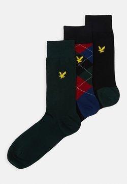 Lyle & Scott - JASPER 3 PACK - Socken - black/pine grove