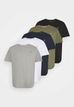 Jack & Jones - JORJXJ TEE CREW NECK 5 PACK - T-shirt basique - white