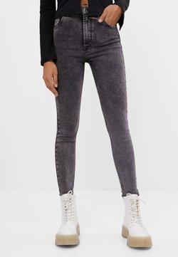 Bershka - MIT SEHR HOHEM BUND  - Jeans Skinny Fit - grey