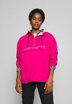 Carhartt WIP - SCRIPT - Windbreaker - ruby pink/white