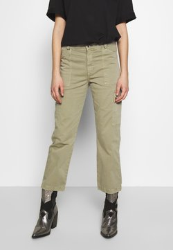 Mavi - CARLY - Trousers - green washed down