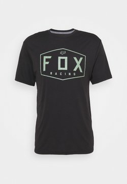 Fox Racing - CREST TECH TEE - Printtipaita - black/green