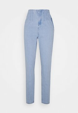 Missguided Tall - RIOT SEAM CORSET DETAIL HIGHWAISTED MOM  - Relaxed fit jeans - stonewash