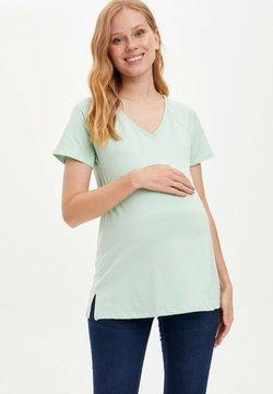 DeFacto - Camiseta básica - turquoise