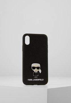 KARL LAGERFELD - IKONIK PIN XS - Kännykkäpussi - black