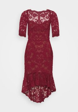 Marchesa - SLEEVE DAMASK DRESS - Cocktailkleid/festliches Kleid - bordeaux