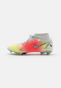 Nike Performance - MERCURIAL 8 ACADEMY MDS FG/MG - Moulded stud football boots - white/bright mango