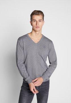 GANT - CLASSIC COTTON V-NECK - Strickpullover - dark grey melange