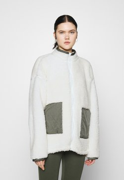 Nly by Nelly - COLORBLOCK JACKET - Vinterjacka - creme
