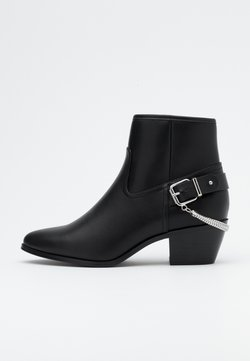 ONLY SHOES - ONLTOBIO CHAIN BOOT  - Stiefelette - black