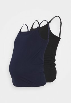Anna Field MAMA - 2PACK NURSING FUNCTION cami - Top - black/dark blue