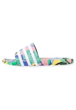 adidas Originals - ADILETTE  - Pantolette flach - super color/footwear white/legend ink