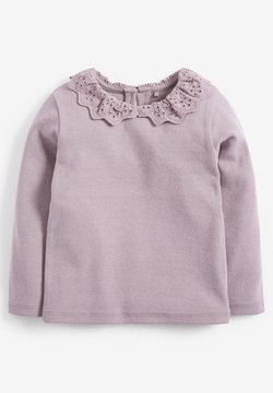 Next - BRUSHED BRODERIE COLLAR  - Longsleeve - purple