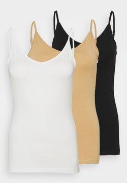Anna Field - Top - black/white/tan