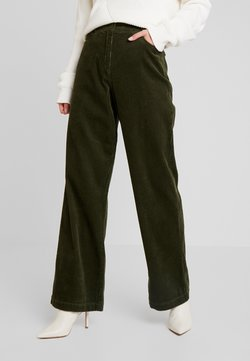 Marc O'Polo - PANTS BARA WIDE LEG HIGH RISE FLAP POCKETS - Stoffhose - farmland green