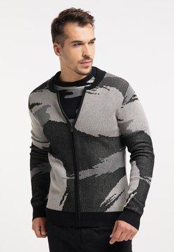 TUFFSKULL - Strikjakke /Cardigans - schwarz camouflage