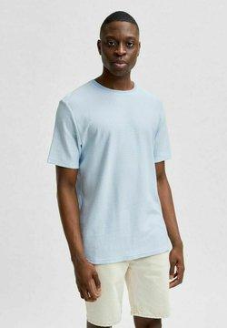 Selected Homme - T-Shirt print - light blue melange