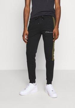 CLOSURE London - BAND STRIPE JOGGER - Jogginghose - black