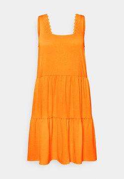 Vero Moda Curve - VMALICE SHORT DRESS  - Vapaa-ajan mekko - saffron