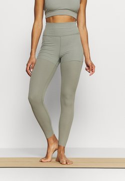 Nike Performance - LUXE LAYERED 7/8 - Tights - light army/stone