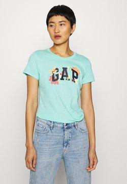 GAP - FRANCHISE FLORAL TEE - T-shirt z nadrukiem - aqua tide