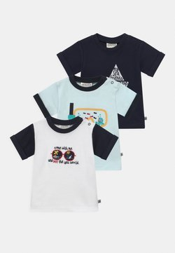 Jacky Baby - OCEAN CHILD 3 PACK - T-shirt con stampa - blue/white