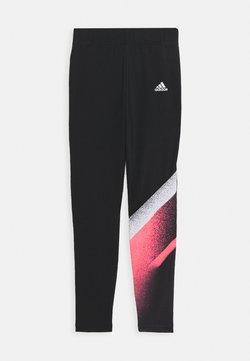 adidas Performance - Tights - black/white/signal pink