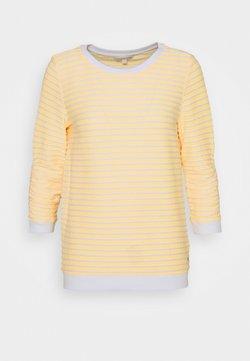 TOM TAILOR DENIM - STRIPED - Langarmshirt - yellow/white
