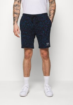 Topman - LEOPARD SIGNATURE - Jogginghose - dark blue