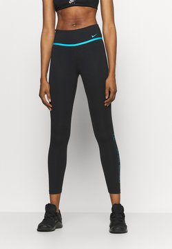Nike Performance - ONE 7/8 - Tights - black/chlorine blue