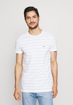 Tommy Hilfiger - STRETCH SLIM FIT TEE - T-Shirt basic - white/breezy blue