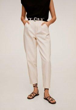 Mango - REGINA - Straight leg jeans - råhvid