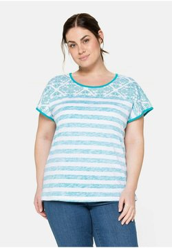 Sheego - T-Shirt print - weiß bedruckt