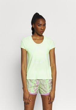 Nike Performance - ICON CLASH MILER  - T-shirt imprimé - lime glow/clear