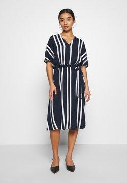 Selected Femme Petite - SLFVIENNA SHORT DRESS - Vestido informal - dark sapphire/snow white