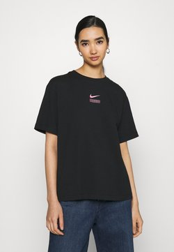 Nike Sportswear - T-Shirt print - black/hyper pink