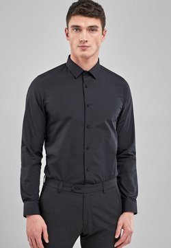 Next - WHITE SKINNY FIT SINGLE CUFF EASY CARE SHIRT - Hemd - black