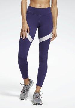 Reebok - MESH WORKOUT READY REECYCLED LEGGINGS - Tights - purple