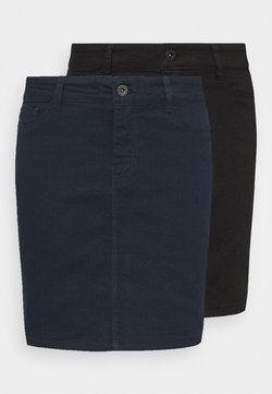 Vero Moda Tall - VMHOTSEVEN SHORT SKIRT 2 PACK - Minirock - black/navy blazer
