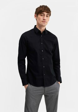 WE Fashion - SLIM FIT STRETCH - Hemd - black