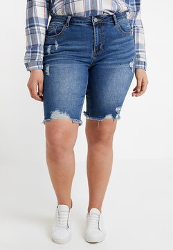 Simply Be - FERN KNEE LENGTH - Jeansshort - dark stonewash