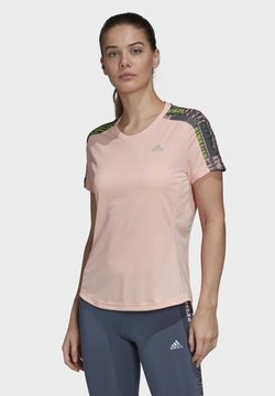 adidas Performance - OWN THE RUN URBAN T-SHIRT - Camiseta estampada - pink