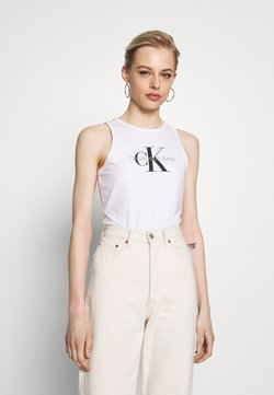 Calvin Klein Jeans - MONOGRAM STRETCH SPORTY TANK - Top - bright white