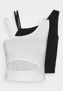 KENDALL + KYLIE - CROPPED CUTOUT 2 PACK - Top - black/white