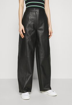 2nd Day - LATOYA - Pantalon en cuir - black