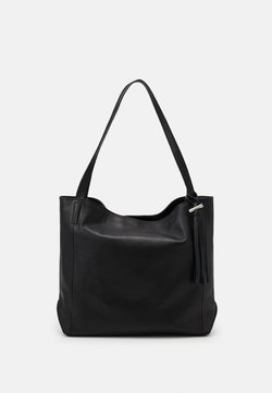 Zign - LEATHER - Shopping Bag - black