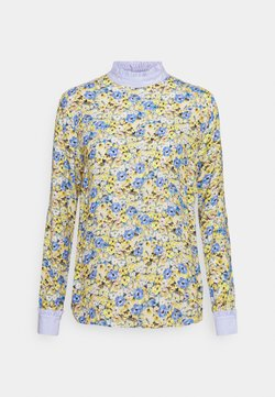 Rich & Royal - BLOUSE WITH CONTRAST FABRIC - Bluse - lemonade
