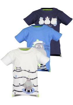 Blue Seven - MINI KN T-SHIRT, RH - 3ER PACK - T-shirt print -  weiss + blau + nachtblau