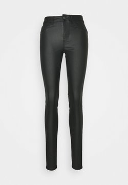 PIECES Tall - PCSHAPE UP PARO COATED - Jeans Skinny Fit - black